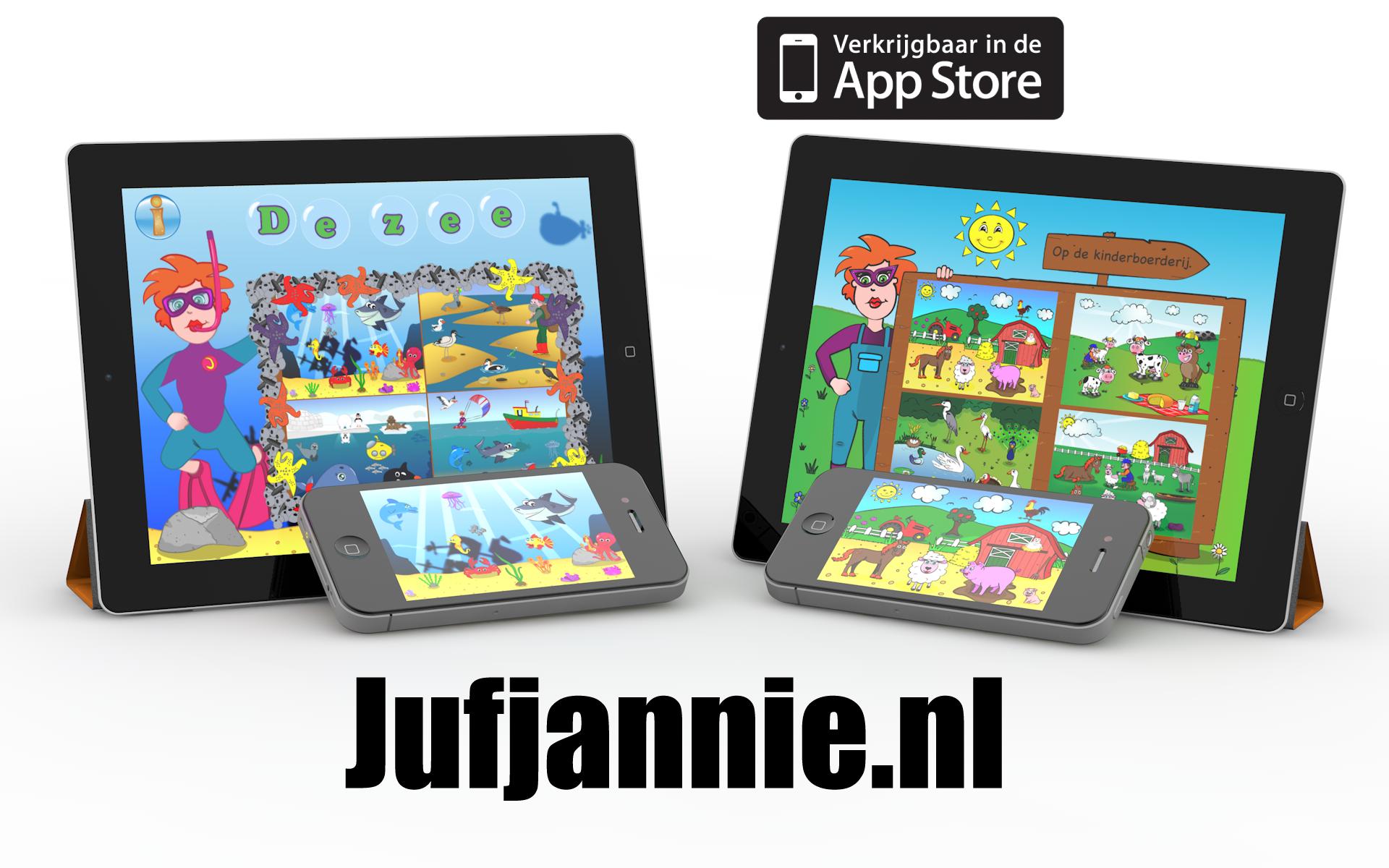 EDUCATIEVE APPS VAN JUFJANNIE.NL
