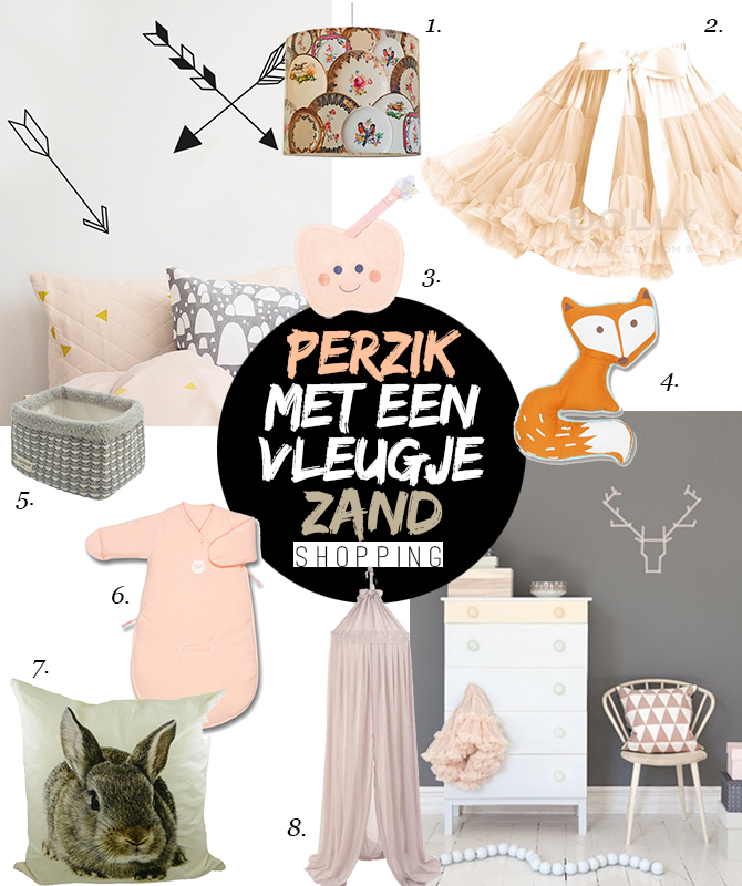 Shopping perzik zand kinderkamer webshop ikbenzomooi.nl