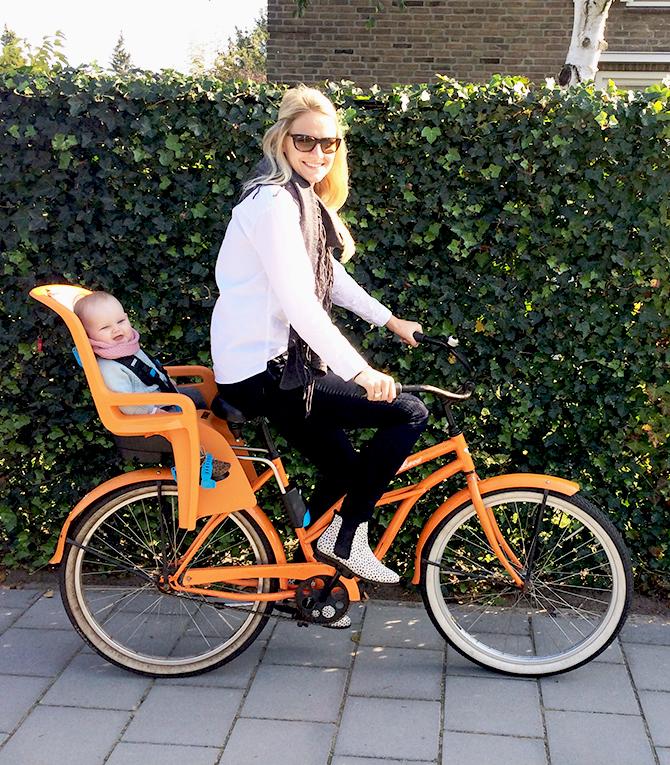 thule ride along fietsstoel oranje